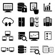 Big data icon set — Stock Vector