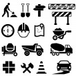 Road construction signs — Imagen vectorial