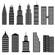 Tall buildings and skyscrapers — Stock Vector