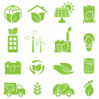 Постер, плакат: Green eco and environment icons
