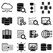 Big data and technology icons — Stock Vector