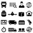 Shipping and cargo icons — Stock Vector