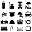Stock Vector: Hotel and hospitality icons