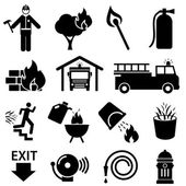 Fire safety icons — Stock Vector