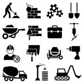 Construction and machinery icons — ストックベクタ