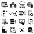 Big data, cloud computing and technology icons — Stock Vector #50541669