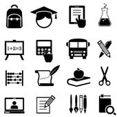 School, learning and education icons — Stock Vector
