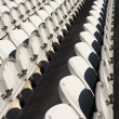 Rows of white chairs — Stock Photo #31325625