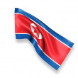 North Korea Waving Flag — Stock Photo