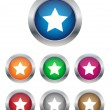 Star buttons — Stock Vector