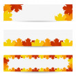 Autumn leaves banners — Stock Vector