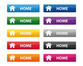 Home buttons — Stock Vector