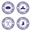 Royalty-Free Stock : Blue christmas rubber stamps