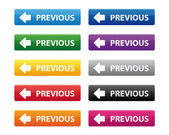 Föregående knappar — Stockvektor