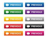 önceki düğmeleri — Stok Vektör