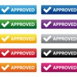 Royalty-Free Stock Vector Image: Approved buttons