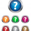 FAQ buttons — Stock Vector