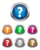 FAQ buttons — Stock Vector