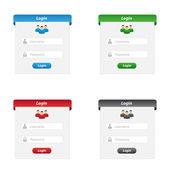 Login forms — Stock Vector