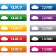 Stock Vector: Cloud buttons
