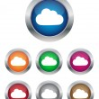 Cloud buttons — Stock Vector