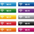 Stock Vector: Wi-Fi buttons