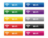 Wi-Fi buttons — Stock Vector