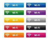 Wi-fi のボタン — ストックベクタ