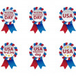 Stock Vector: Independence day badges