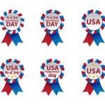 distintivi di giorno di indipendenza — Vettoriale Stock