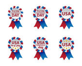 Independence day badges — Stock Vector