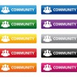 Stock Vector: Community buttons