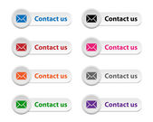Contact us buttons — Stock Vector