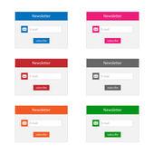Newsletter forms — Stock Vector