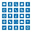 Stock Vector: Square web icons