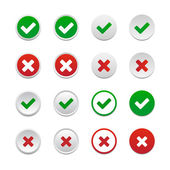 Validation buttons — Stock Vector