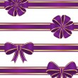 Purple ribbons — Stock Vector