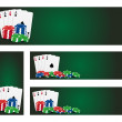 Poker banners — Stock Vector #35803847
