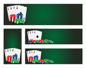 Poker banners — Stock Vector