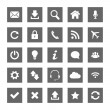 Stock Vector: Grey Web icons