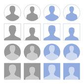 Profile icons — Stock Vector