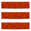 Valentine seamless banners — Stock Vector #38719731