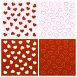 Stock Vector: Valentine seamless backgrounds