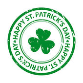 St. patrick's day rubber stamp — Stock Vector