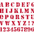 Rubber stamp style alphabet — Stock Vector