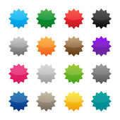 Blank colorful stickers — Stok Vektör