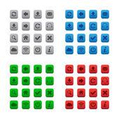 Kare web düğmeleri — Stok Vektör