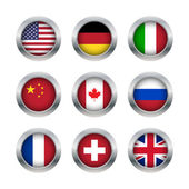 Flag buttons set 1 — Stock Vector