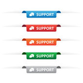Support paper tag labels — Stock Vector
