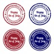 Independence day rubber stamps — Stock Vector #46180433